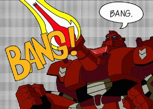 TRANSFORMERS - BANG - POP ART canvas print - self adhesive poster - photo print